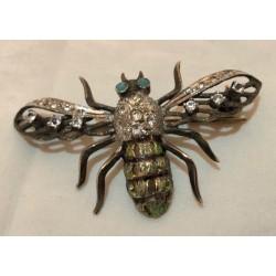 Broche abeille art deco en...