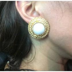 Chanel - Clips d'oreilles occasion vintage portées