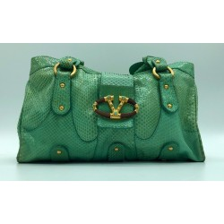 Valentino Garavani - Magnifique sac en python vert