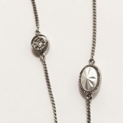 Chanel - Collier argenté authentique