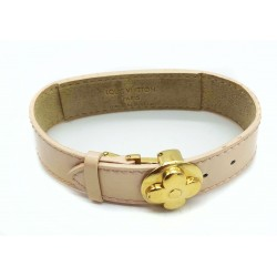 Bracelet Louis Vuitton cuir vernis rose