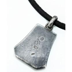 Collier Hermès ethnique cuir avec pendentif en argent