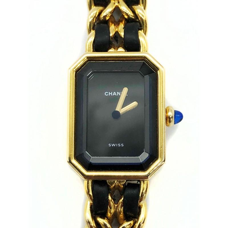 Montre Chanel vintage Première plaquée or