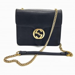 Sac Gucci vintage cuir noir Interlocking
